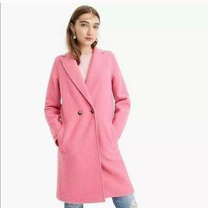 J Crew Daphne Pink Wool Coat